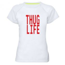 Жіноча спортивна футболка thug life - FatLine