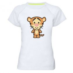 Женская спортивная футболка тигрюля - FatLine