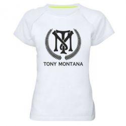 Жіноча спортивна футболка Tony Montana Logo