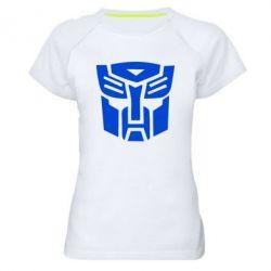 Женская спортивная футболка Трансформеры Автоботы - FatLine