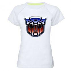 Женская спортивная футболка Трансформеры Лого 1