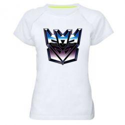 Женская спортивная футболка Трансформеры Лого 2