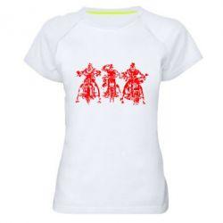Женская спортивная футболка Три богатыря - FatLine