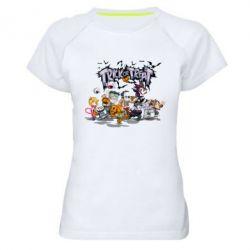 Женская спортивная футболка Trick or treat - FatLine