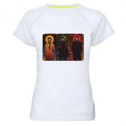 Женская спортивная футболка Трио Сверхъестественное - FatLine