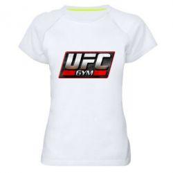 Женская спортивная футболка UFC GyM - FatLine