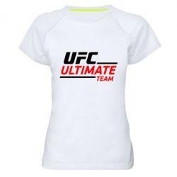 Женская спортивная футболка UFC Ultimate Team - FatLine