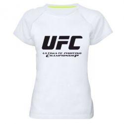 Женская спортивная футболка UFC - FatLine