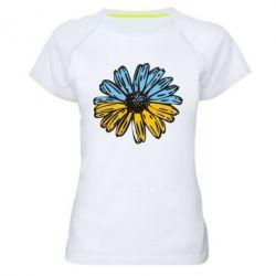 Женская спортивная футболка Українська квітка - FatLine