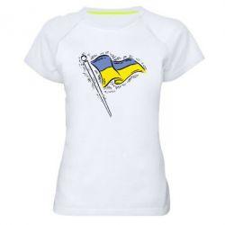 Женская спортивная футболка Украинский флаг - FatLine