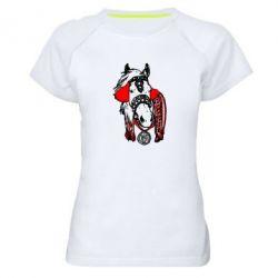 Женская спортивная футболка Українській кінь - FatLine