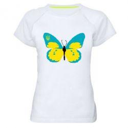 Женская спортивная футболка Український метелик - FatLine