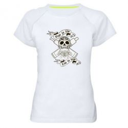 Женская спортивная футболка Vape to live - FatLine