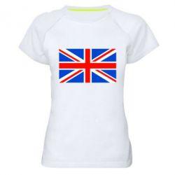 Женская спортивная футболка Великобритания - FatLine