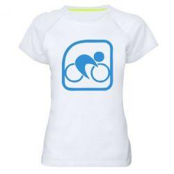 Женская спортивная футболка Велоспорт - FatLine