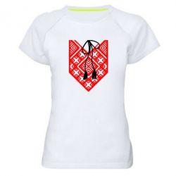 Женская спортивная футболка Вишиванка з зав'язкою - FatLine