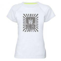 Женская спортивная футболка Військо українське - FatLine