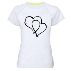 Женская спортивная футболка Влюбленные сердца - FatLine