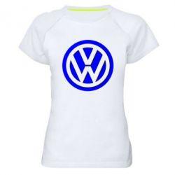 Женская спортивная футболка Volkswagen Logo - FatLine