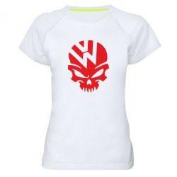 Женская спортивная футболка Volkswagen Skull - FatLine