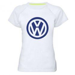 Женская спортивная футболка Volkswagen - FatLine