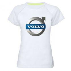 Женская спортивная футболка VOLVO 3D - FatLine