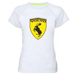 Женская спортивная футболка Volvo Logo - FatLine