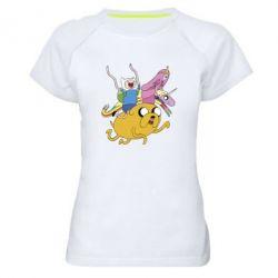Женская спортивная футболка Время Приключений - FatLine