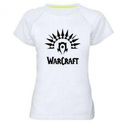 Женская спортивная футболка WarCraft Logo - FatLine