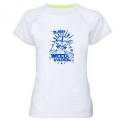 Женская спортивная футболка Weed Vader - FatLine