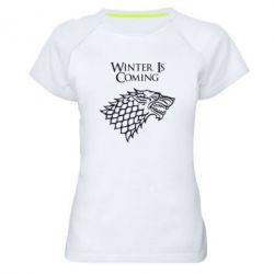Женская спортивная футболка Winter is coming (Игра престолов) - FatLine