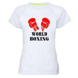 Женская спортивная футболка World Boxing - FatLine