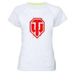 Женская спортивная футболка WOT Logo - FatLine