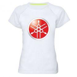 Женская спортивная футболка Yamaha Logo 3D