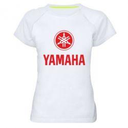 Женская спортивная футболка Yamaha Logo(R+W) - FatLine