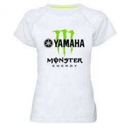 Женская спортивная футболка Yamaha Monster Energy - FatLine