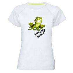 Жіноча спортивна футболка Жабка - FatLine