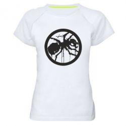 Женская спортивная футболка Жирный муравей