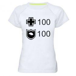 Женская спортивная футболка Жизнь и броня - FatLine
