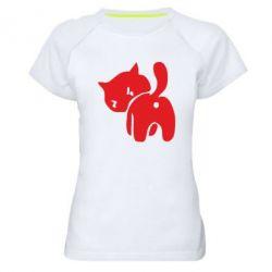 Женская спортивная футболка злой котэ - FatLine