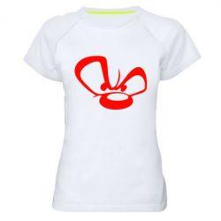 Женская спортивная футболка Злой мишка - FatLine