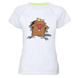 Женская спортивная футболка Злюки бобри - FatLine