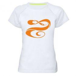 Женская спортивная футболка змеючка - FatLine