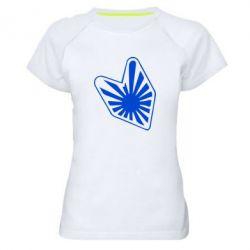Женская спортивная футболка Значек JDM - FatLine