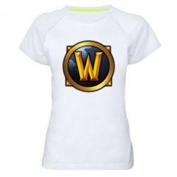 Женская спортивная футболка Значок wow - FatLine
