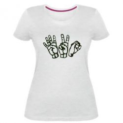 Жіноча стрейчева футболка 4:20 (чотири двадцять)