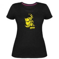 Женская стрейчевая футболка Naruto face - FatLine