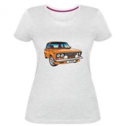 Женская стрейчевая футболка A car