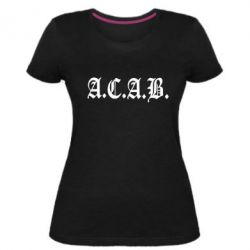 Жіноча стрейчева футболка A.C.A.B