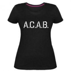 Жіноча стрейчева футболка A.C.A.B.